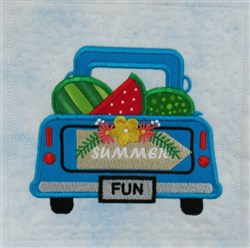 ITH Vintage Summer Truck 2 embroidery design