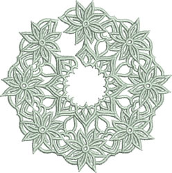 FSL Stemmed Glass Skirt embroidery design