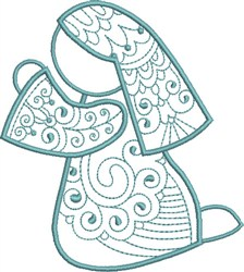 Praying Mary embroidery design