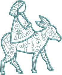 Mary on Donkey embroidery design