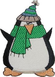 Happy Penguin Applique embroidery design
