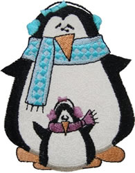 Penguin Applique embroidery design