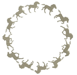Ring of Horses embroidery design