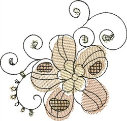 Watercolor Floral embroidery design