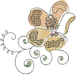 Watercolor Hibiscus embroidery design