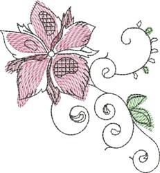 Floral Watercolor embroidery design