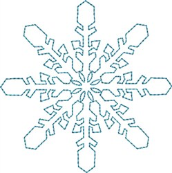 Crystal Snowflake embroidery design