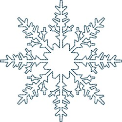 Christmas Tree Snowflake embroidery design