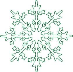 Sparkling Snowflake embroidery design