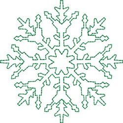 Snowflake Flurry embroidery design