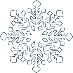 Perfect Snowflake embroidery design