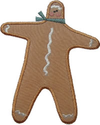Tall Gingerbread Applique embroidery design