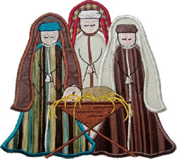 Wise Men Applique embroidery design