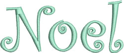 Swirly Noel embroidery design