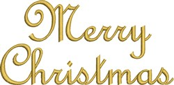 Metallic Merry Christmas embroidery design