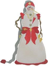 Applique Snowmiss embroidery design