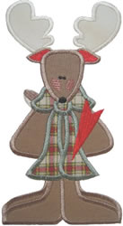 Applique Moose embroidery design