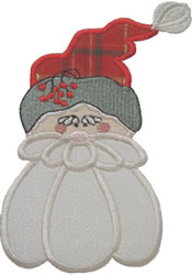 Applique Santa embroidery design