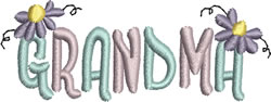 Grandma embroidery design