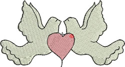 Two Doves embroidery design