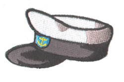 Navy Hat embroidery design