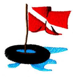 Scuba Flag embroidery design