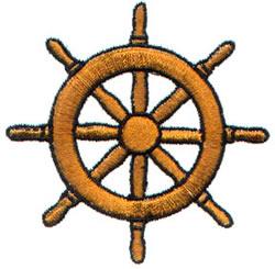 Wheel embroidery design
