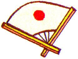 Asia Fan embroidery design