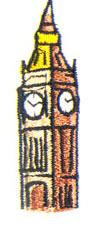 BigBen embroidery design