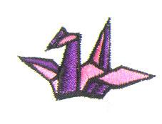 Paper Crane embroidery design
