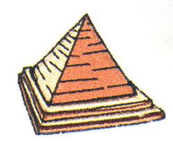 Egyptian Pyramid embroidery design