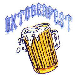 Oktoberfest Beer embroidery design