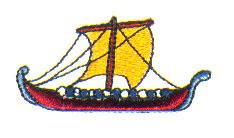 Greek Boat embroidery design