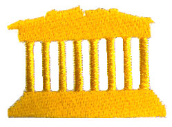 Acropolis embroidery design