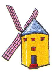 Dutch Windmill embroidery design