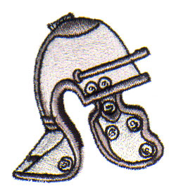 Roman Helmet embroidery design