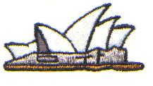 Sydney Opera embroidery design