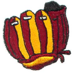 Baseball Glove embroidery design