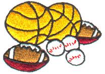 Game Balls embroidery design