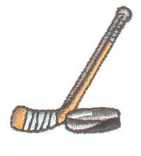 Hockey Stick embroidery design