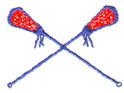 Lax Stick embroidery design