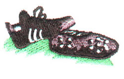 Soccer Shoes embroidery design