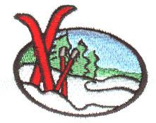 Scene embroidery design