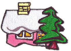 Winter House embroidery design