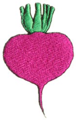 Beet embroidery design