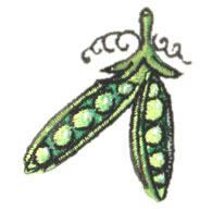 Peas embroidery design