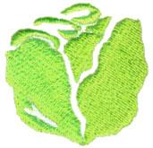 Lettuce embroidery design