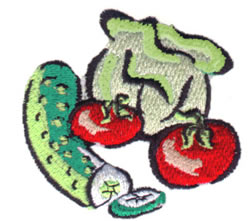 Veggies embroidery design