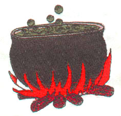 Cauldron embroidery design