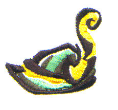 German Hat embroidery design
